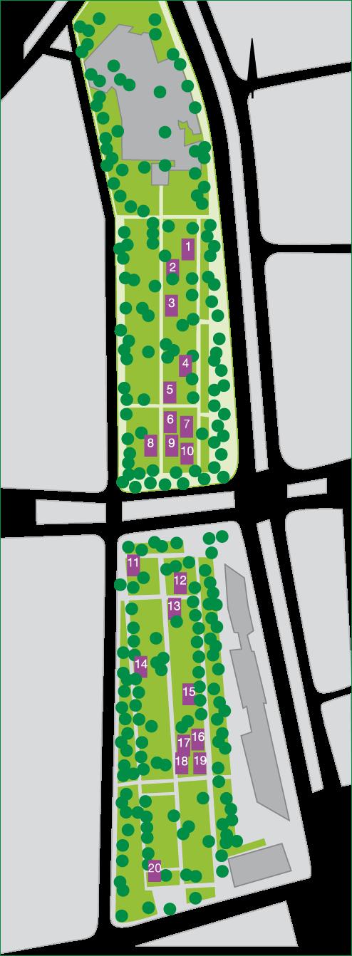 Lageplan der Gräber