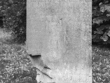 Grabmal der Familie Vielhaber, deren 7-jähriger Sohn im Rhein ertrank..