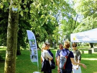 """Die Gruppe des Vereins """"TABU SUIZID"""", mit der am Sa., 23.Juni ein gemeinsamer Rundgang stattfindet: """"Den Toten aus dem Rhein zum Gedenken"""""""